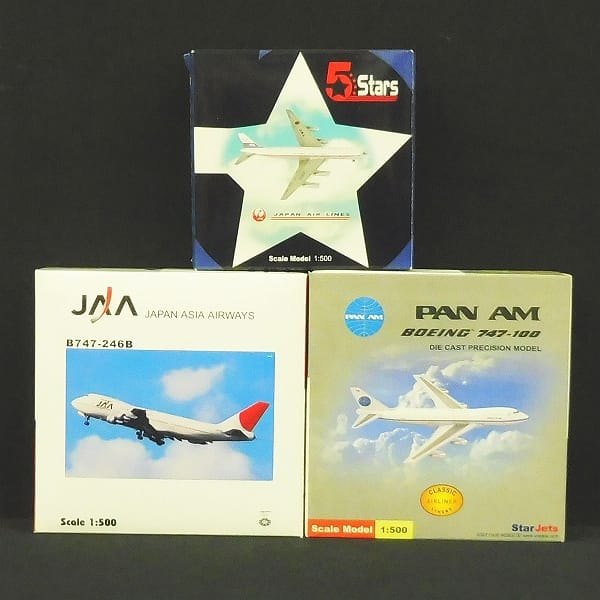 5Stars 1/500 JAL DC8-50 JAA B747-246B PANAM B747-100