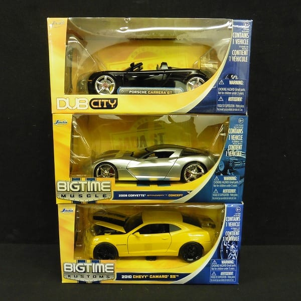 Jada Toys 1/24 ポルシェカレラ GT 2009 コルベット 他