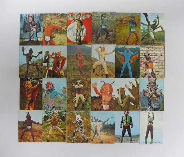 カルビー 当時物 旧 仮面ライダー カード 1 - 37 24枚
