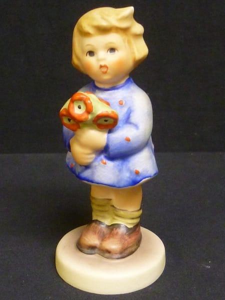 Goebel ゲーベル フンメル人形 花束の女の子 陶製ドイツ