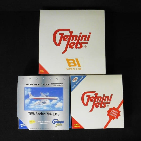 GeminiJets 1/400 トランス ワールド航空 B707 他 計3点