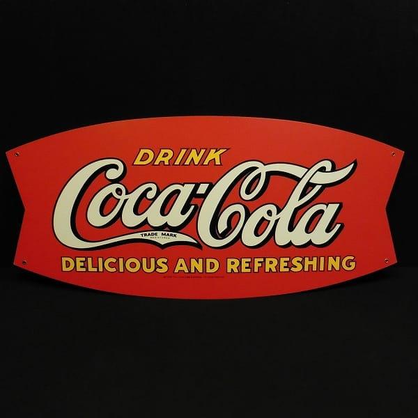 コカコーラ 金属製看板 ホーロー ノベルティ 全長68cm