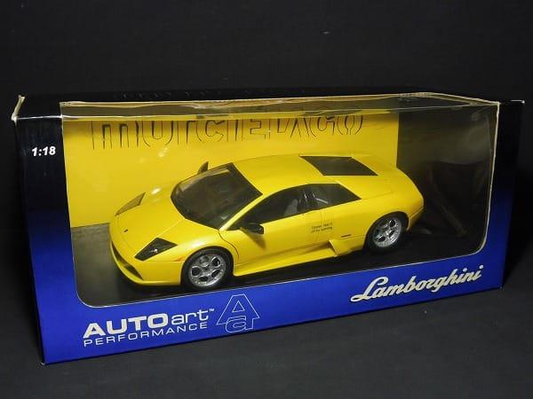 AUTO art 1/18 ランボルギーニ ムルシエラゴ イエロー
