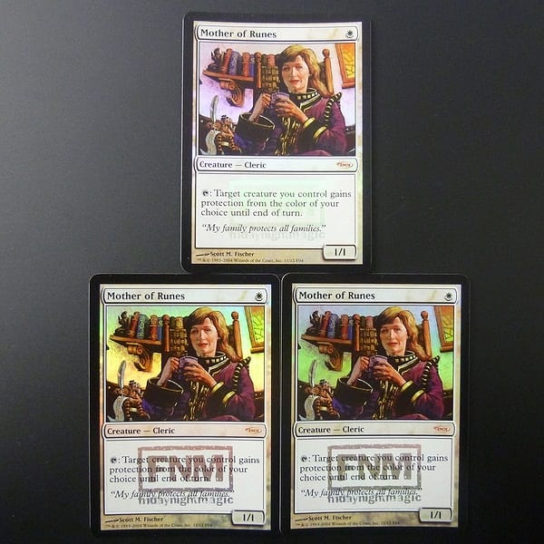 MTG ルーンの母 Mother of Runes 英語 3枚 Foil プロモ