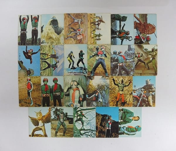 カルビー 当時物 旧 仮面ライダー カード 71 – 122 23枚