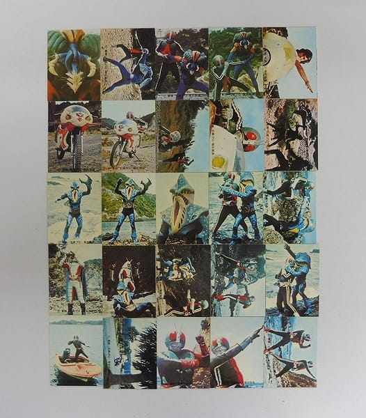 カルビー 旧 仮面ライダー カード 221 – 245 コンプ
