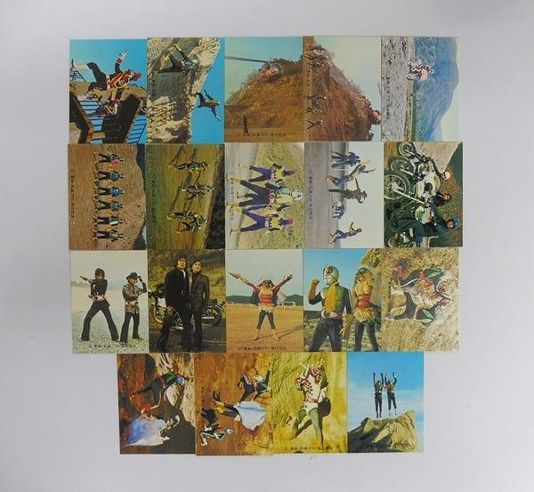 カルビー 旧仮面ライダー カード 447 - 466 セミコンプ