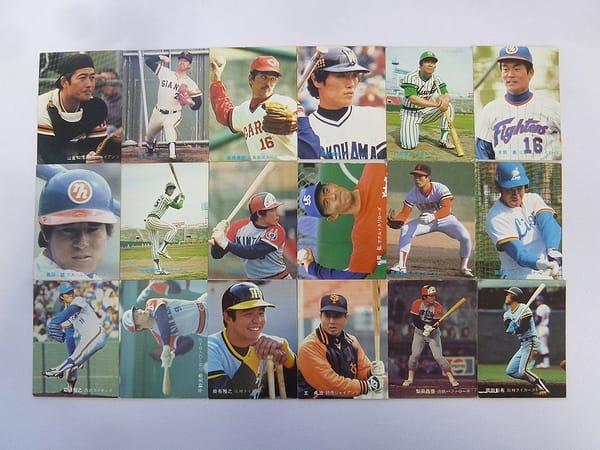 カルビー 当時物 プロ野球カード 1981年 No.3~76 18枚