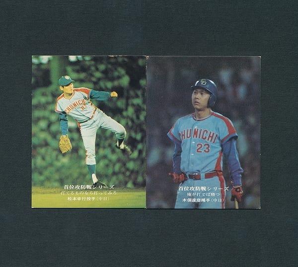カルビー プロ野球カード 1975年 59松本 60木俣 地方版