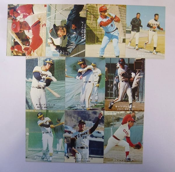 カルビー プロ野球カード 1977年 キャンプシリーズ 10枚