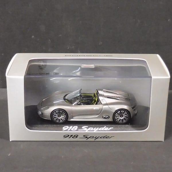 ミニチャンプス 1/43 ポルシェ 918 Spyder スパイダー