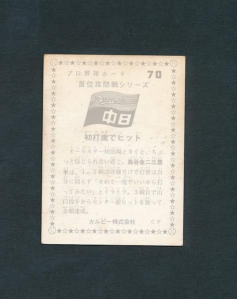 カルビー 地方版 プロ野球カード 75年 70 島谷金二_2