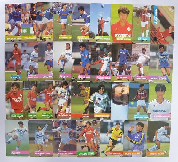 カルビー 1991~1992 サッカーカード No.46~108 34枚