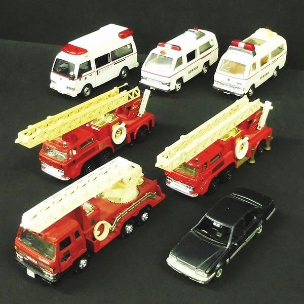 ダイヤペット まとめて 7台 消防車 救急車 セドリック