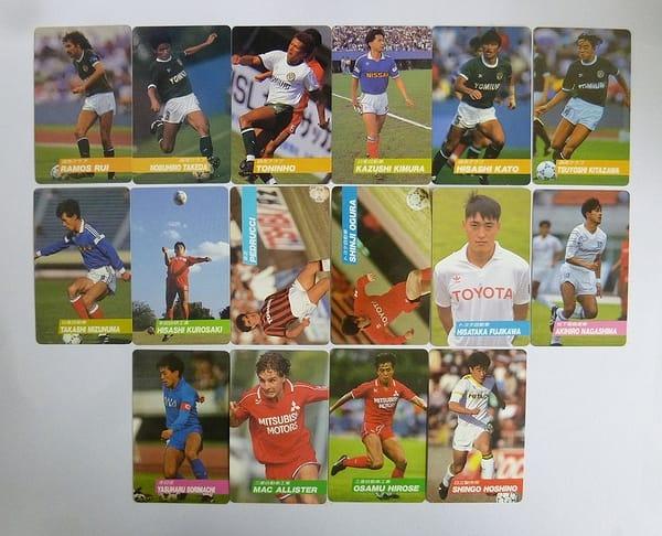 カルビー 1991~1992 サッカーカード No.37~70 16枚