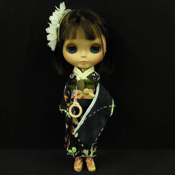 ブライス 2003年製 / カスタム / 着物 髪留め 花柄