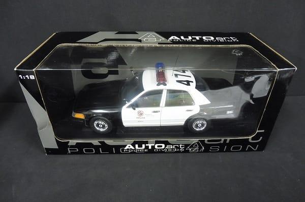 AUTOart 1/18 フォード クラウン ビクトリア LA ポリス