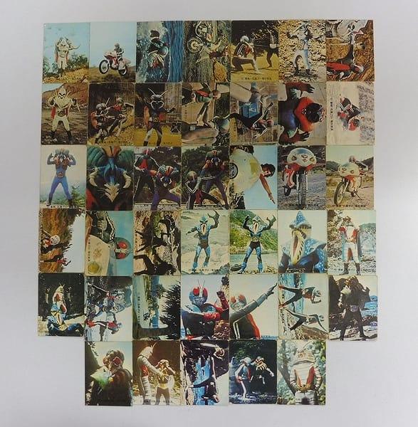 カルビー 旧 仮面ライダー カード 201-254 40枚 当時物