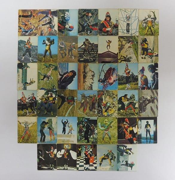 カルビー 旧 仮面ライダー カード 358-414 40枚 当時物