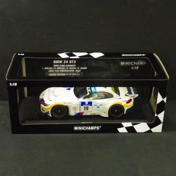 ミニチャンプス 1/18 BMW Z4 GT3 チームシューベルト