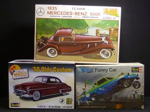 レベル 1/25 '50 Olds Custom MISS DEAL Funny Car 他