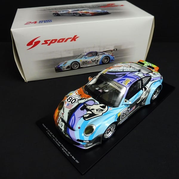 スパーク 1/18 ポルシェ 997 GT3 RSR ルマン 2007 #80