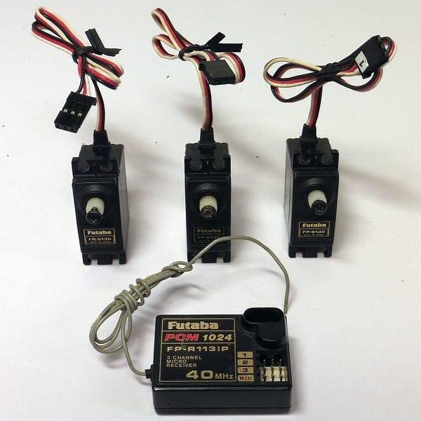 フタバ 受信機 FP-R113iP 40MHz サーボ FP-S135 x 3
