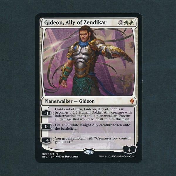 MTG ゼンディカーの同盟者、ギデオン 英語 白 神話