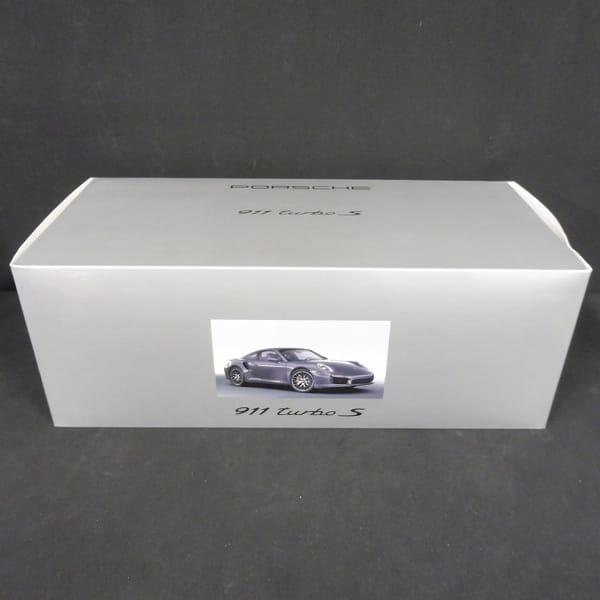 ミニチャンプス 1/18 ポルシェ  911 ターボ S/PORSCHE