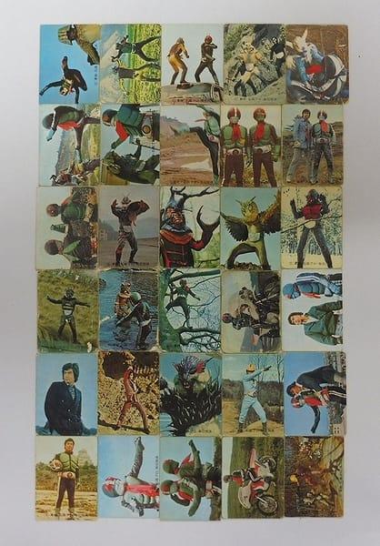 カルビー 当時物 旧 仮面ライダー カード 81 - 141 30枚