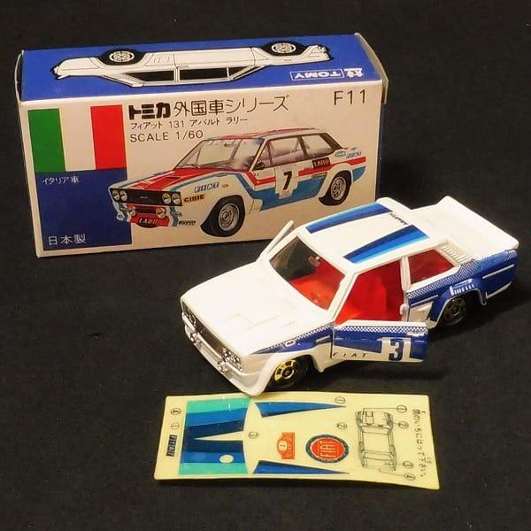 トミカ 青箱 フィアット 131 アバルト ラリー 日本製