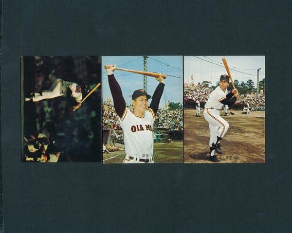 カルビー プロ野球カード 73年 バット版 9 10 12 王貞治
