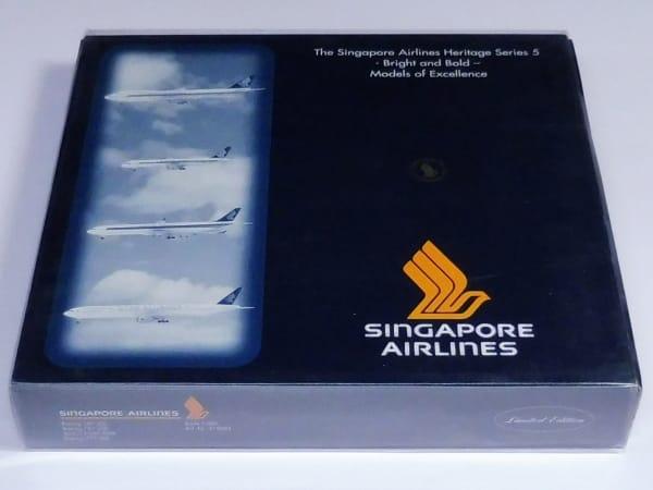 ヘルパ 1/500 シンガポール航空 Heritage 5 4機セット