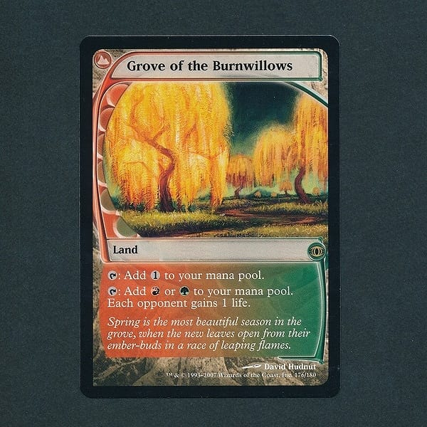 MTG 燃え柳の木立ち Grove of the Burnwillows 英 赤 緑