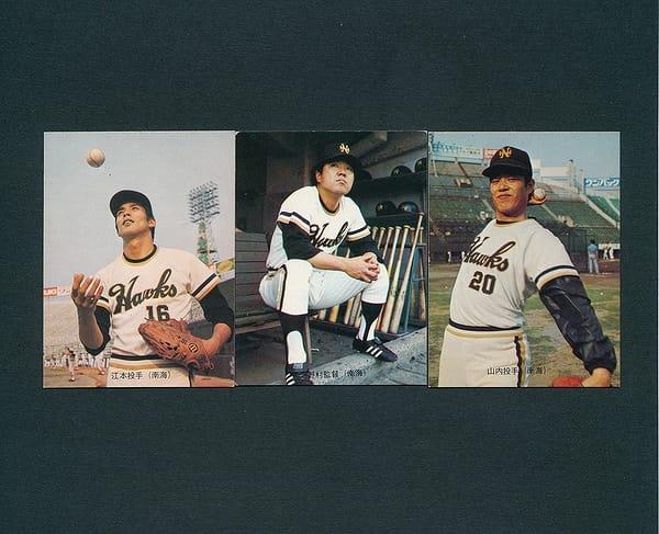 カルビー プロ野球 カード 73年 No.74 75 85 南海 旗版