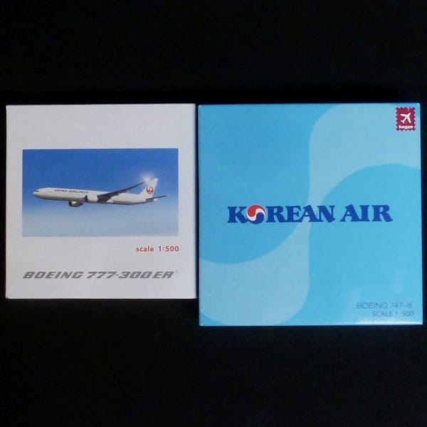 ホーガン 1/500 JAL 777-300 ER JA737J 大韓航空 747-8