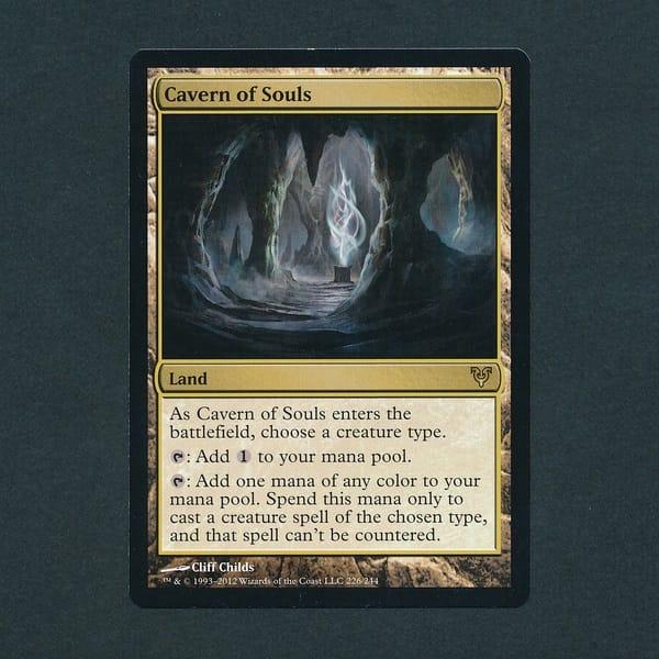 MTG 魂の洞窟 Cavern of Souls 英語版 AVR レア 土地
