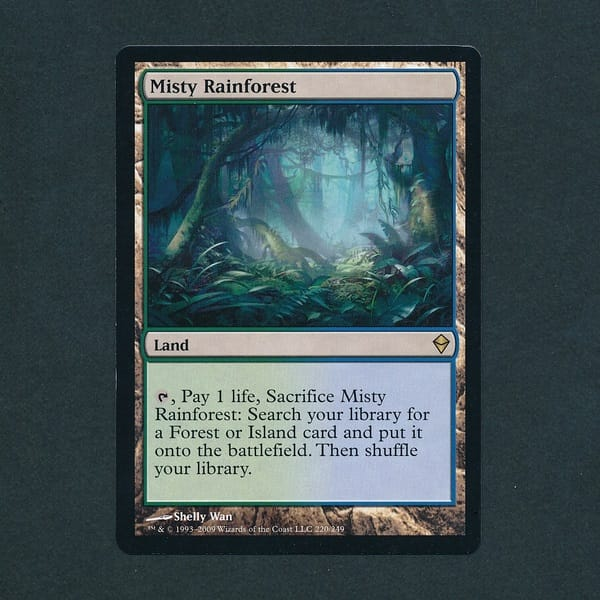 MTG 霧深い雨林 Misty Rainforest 英語 土地 緑 青 レア