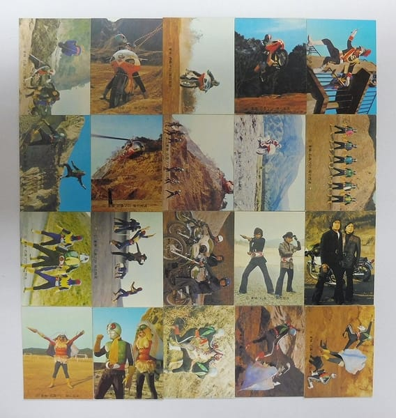カルビー 当時物 旧 仮面ライダー カード 443 - 464 セミコンプ