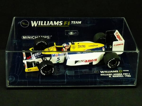 ミニチャンプス 1/43 ウィリアムズ ホンダ F11 マンセル