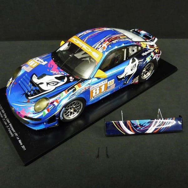 スパーク 1/18 ポルシェ997 GT3 RSR No.81ルマン2011_2