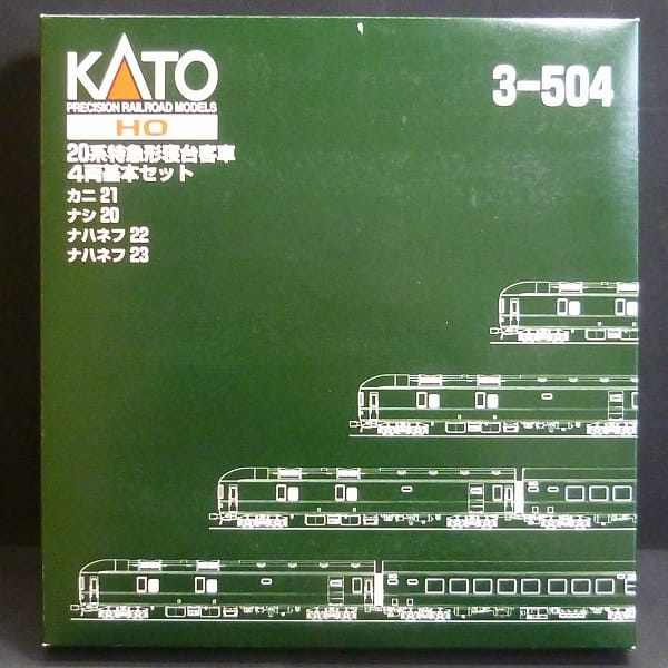 KATO HOゲージ 3-504 20系特急寝台客車 4両基本セット_1