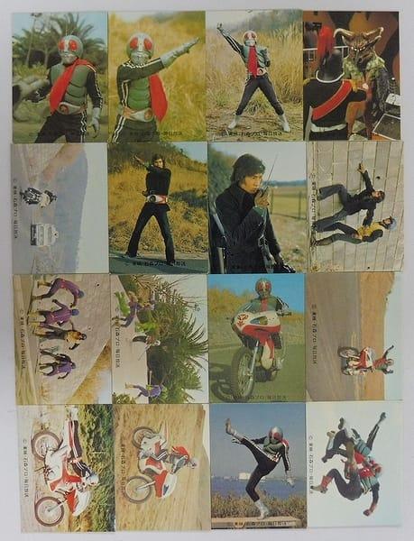 カルビー 旧 仮面ライダー カード 480-496 セミコンプ