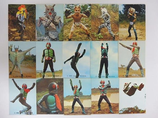 カルビー 旧 仮面ライダー カード 28-45 セミコンプ