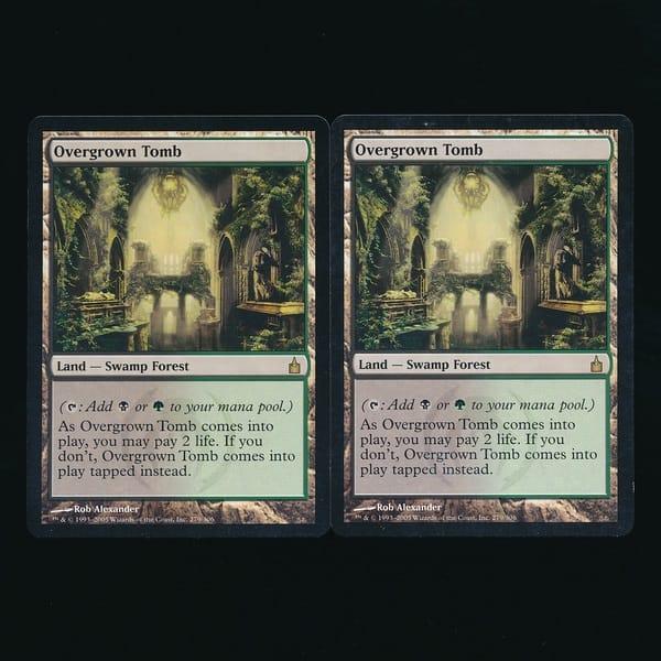 MTG 草むした墓 Overgrown Tomb 英語 2枚 RAV 黒 緑