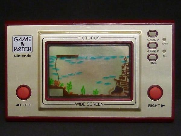 任天堂 ゲームウォッチ オクトパス ワイドスクリーン