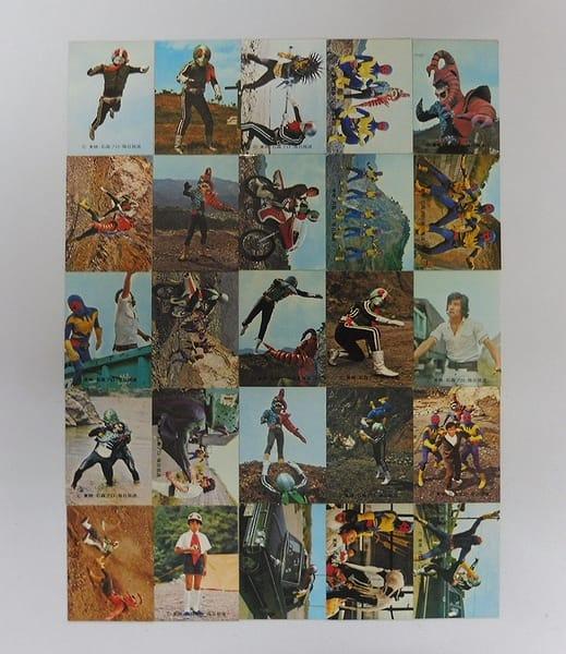 カルビー 当時物 旧 仮面ライダー カード 290-321 25枚