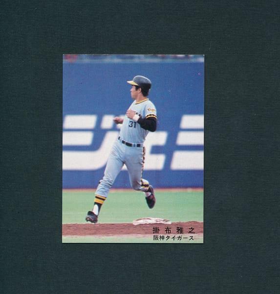 カルビー プロ野球カード 78年 掛布雅之 阪神