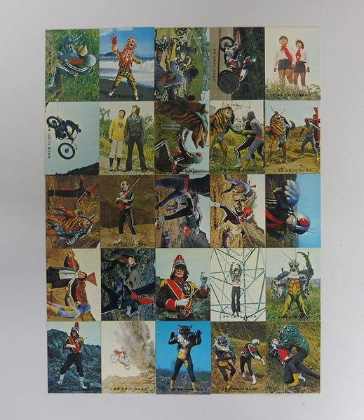 カルビー 旧 仮面ライダー カード 348-372 25枚 コンプ