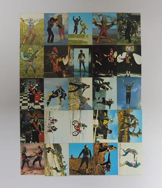 カルビー 旧 仮面ライダー カード 401-425 25枚 コンプ